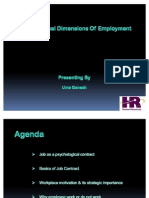 Psychological Dimensions of Employment by Uma Ganesh