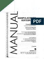Manual Manipulaciones Vertebrales