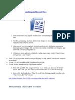 Cara Mengecilkan Ukuran File pada Microsoft Word.docx