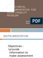 5 Geotechnical Instrumentation for Slope Stability Problem