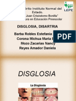 disglosia ydisartria