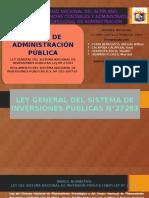 Snip Taller Administrracion Publica