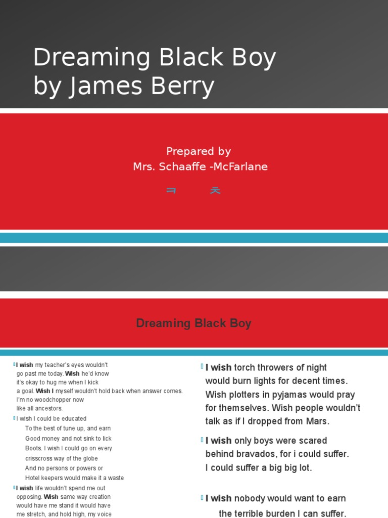 one by james berry summary