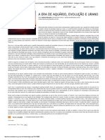 Artigo de Fabrizio Ranzolin_ a ERA de AQUÁRIO, EVOLUÇÃO E URANO - _ Artigos Do Clube