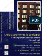 De la Astronomie la Teologie