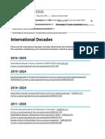 UN Decades