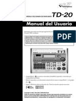 Manuel Batería Roland TD-20