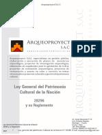 Ley general del patrimonio cultural de la nacion N° 28296-Arqueoproyect S.A.C