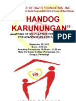 09.28.12 TDC Presentation HDFI Handog Karunungan