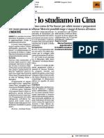 """""""Il pallone lo studiamo in Cina"""" - Il Corriere Adriatico del 17 gennaio 2017"""