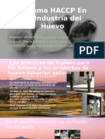 Sistema HACCP en La Industria Del Huevo