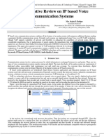 A Comparitive Review on IP Based Voice Communication Systems