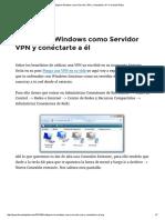 Configurar Windows Como Servidor VPN y Conectarte a Él