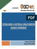 Ghana's Experience in Single Window