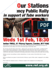 Staff Our Stations Rally Leaflet