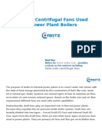 Types Of Centrifugal Fans Used In Power Plant Boilers