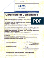 Certificate of Complience - Issue 4 First Page