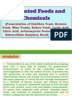 Fermented Foods and Chemicals (Fermentation of Distillers Yeast, Brewers Yeast, Wine Yeasts, Bakers Yeast, Lactic Acid, Citric Acid, Actinomycete Protease, Bacterial Extracellular Enzymes, Bread, Vegetables)