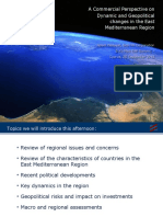 Dynamic and Geopolitical changes in the East Mediterranean Region