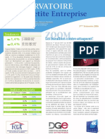 Observatoire de la petite entreprise n° 63 FCGA - Banque Populaire