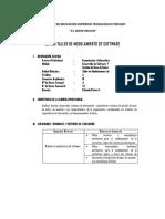 Silabo Modular Taller de Modelamiento de Software 2014-i