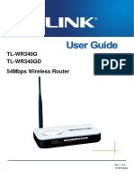 Configurare Router-wireless-TL-WR340G V3 User Guide
