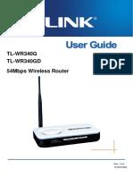 Configurare Router-wireless-TL-WR340G V3 User Guide