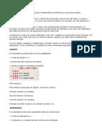 As Quatro Operações Fundamentais Da Aritmética e Sua Nomenclatura