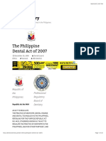 The Philippine Dental Act of 2007 | Dental Dentistry