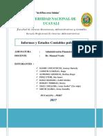 Trabajo Final de Adm Financiera II Informes y Estados Contables Publicados