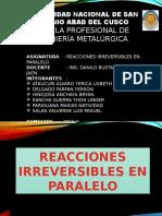 Reacciones Irreversibles Paralelo (1)
