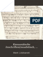 Kanaanäische Inschriften