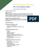 Programa Curso Desenvolvedor Java Web