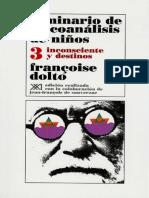 Seminario de Psicoanálisis de Niños 3 [Françoise Dolto]