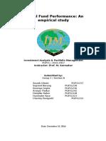 Mutual Fund Performance_An Empirical Study