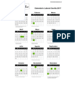 Calendario Laboral Sevilla 2017 PDF