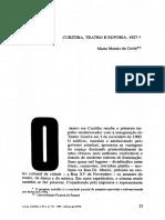 CUritiba, Teatro e Euforia - 1927