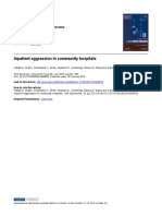 Inpatient Aggression in Community Hospitals