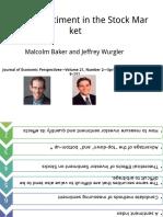 Investor Sentiment PowerPoint 演示文稿