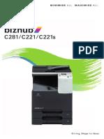 Bizhub c281 c221 c221s Catalog En