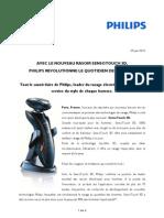 Philips dévoile le rasoir SensoTouch 3D