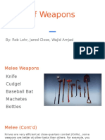 types of weapons rwj
