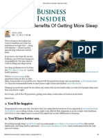 Why Sleep is Important - Business Insider