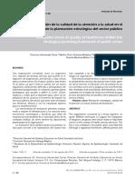 Hernandez F Et Al (2011). Niveles de Evaluación de La Calidad de La Atención a La Salud en El Marco de La Planeación Estratégica Del Sector Público