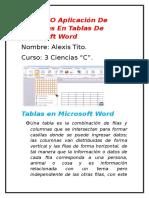 Cálculo O Aplicación de Fórmulas en Tablas de Microsoft Word