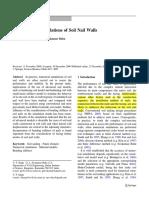 2D Numerical Simulations of Soil Nail Walls - Babu-Vikas -- Original Paper