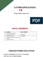 Windows Form Application c