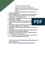 10 Ejemplos de Variantes Sociales de La Lengua