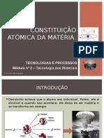 APRESENTAÇÃO FICHA 1 - Constituição Atómica Da Matéria