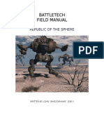Battletech - MechWarrior DA - Field Manual - Republic of the Sphere